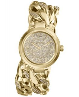 Michael Kors Womens Chronograph Camille Glitz Gold Tone Stainless Steel Bracelet Watch 43mm MK3248   Watches   Jewelry & Watches