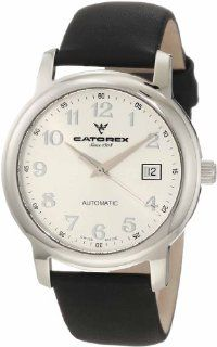 Catorex Men's 119.1.8170.420 Attractive Automatic Stainless Steel Black Calfskin Watch Watches