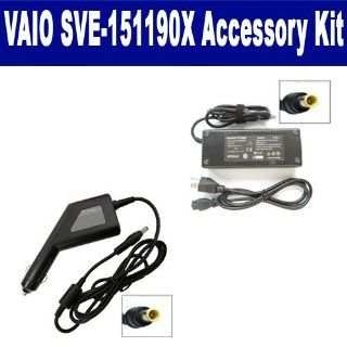 Sony VAIO SVE 151190X Laptop Accessory Kit includes SDA 3512 AC Adapter, SDA 3562 Car Adapter Computers & Accessories