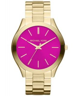 Michael Kors Womens Slim Runway Gold Tone Stainless Steel Bracelet Watch 42mm MK3265   Watches   Jewelry & Watches