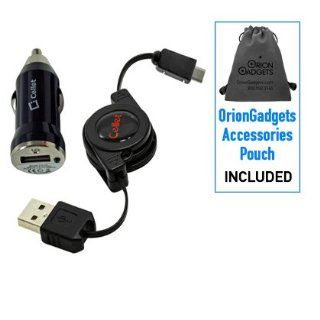 Retractable Sync & Charge USB Kit (Retractable USB Cable & Bullet Car Adapter) for HTC Droid Incredi (Includes OrionGadgets Accessories Pouch) Cell Phones & Accessories