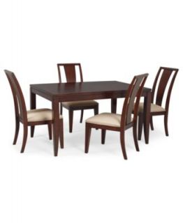 Prescot Dining Room Furniture, 5 Piece Set (Rectangular Table and 4 Slat Back Chairs)   Furniture