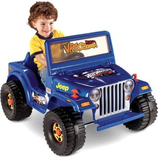 Fisher Price Power Wheels Blue Hot Wheels Jeep Ride On