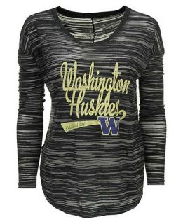 Blue 84 Womens Long Sleeve Washington Huskies Trouble Burnout Striped Top   Sports Fan Shop By Lids   Men