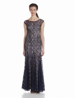 Adrianna Papell Women's Cap Sleeve Lace Beaded Dress