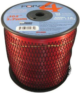 Force 4 FF065S3 2 3 Pound Spool of .105 Inch Mid Range Commercial Grade Round Grass Trimmer Line, Red  String Trimmer Accessories  Patio, Lawn & Garden