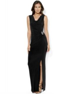 Lauren Ralph Lauren Petite Dress, Sleeveless Sequin Lace Gown   Dresses   Women