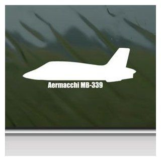 Aermacchi Mb 339 White Sticker Decal Military Soldier White Car Window Wall Macbook Notebook Laptop Sticker Decal   Decorative Wall Appliques