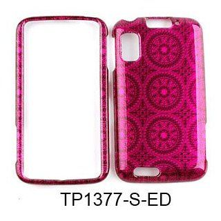 CELL PHONE CASE COVER FOR MOTOROLA ATRIX 4G MB860 TRANS HOT PINK CIRCULAR PATTERNS Cell Phones & Accessories