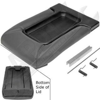 APDTY 035922 Center Console Compartment Lid / Leather Armrest Replacement Kit   Dark Gray / Pewter Color For 2001 2006 Escalade, Avalanche, Silverado, Sierra, Suburban, Tahoe, Yukon (Replaces 19127364) Automotive