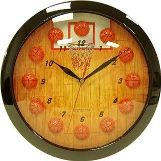 BASKETBALL DESIGN SPORTS KIDS ROOM HANGING WALL CLOCK Toys & Games