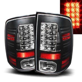 Dodge Ram 2010 2011 LED Tail Lights Black (Fits 2500) Automotive