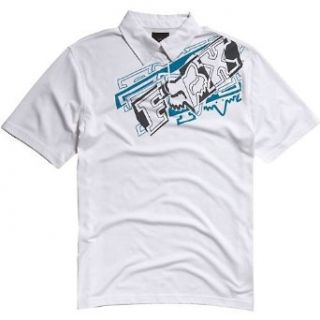 Fox Racing Brazzer Polo Shirt WHITE Md at  Men�s Clothing store