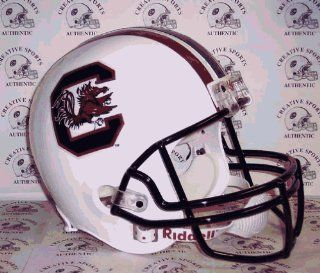 South Carolina GameCocks   Riddell NCAA Full Size Deluxe Replica Football Helmet  Sports Fan Football Helmets  Sports & Outdoors