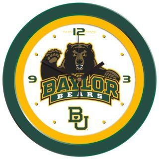 Baylor University Bears Wall Clock  Sports Related Merchandise  Sports & Outdoors