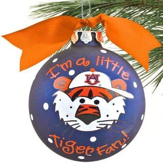 NCAA Auburn Tigers Navy Blue Little Boy Fan Christmas Ornament  Ornament Hanging Stands  Sports & Outdoors
