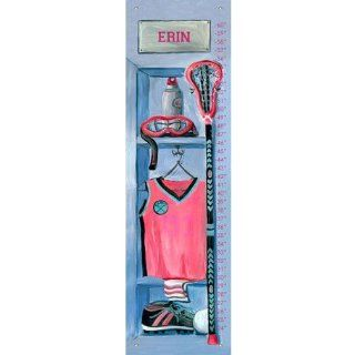 Oopsy Daisy Girl's Lacrosse Locker by Jones Segarra Growth Charts, 12 by 42 Inch  Nursery Wall Decor  Baby