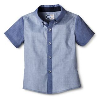 G Cutee Toddler Boys Short Sleeve Buttondown   Blue 7