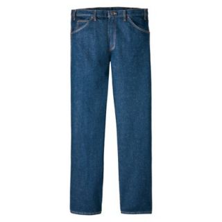 Dickies Mens Regular Fit 5 Pocket Jean   Indigo Blue 46x34