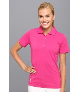 adidas Golf Solid Jersey Polo 14 Womens Short Sleeve Knit (Coral)