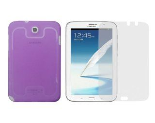 iShoppingdeals   Purple TPU Rubber Skin Cover Case + Anti Glare Matte Screen Protector for Samsung Galaxy Note 8.0 (GT N5110) Computers & Accessories
