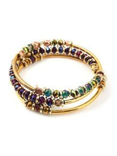 Vanessa Mooney Kiss Me Deadly Bangles   Gold Bangle Bracelets Jewelry