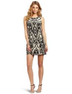 Twelfth Street by Cynthia Vincent Women's Drop Waist Shift Dress, Zebra Tie Dye, Small