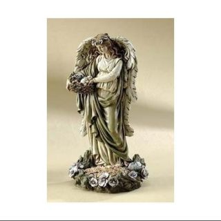 12  Angel and Bunny Bird Feeder Outdoor Garden Statue Patio & Outdoor Decor