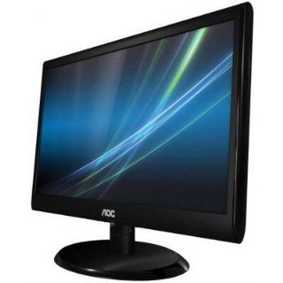 AOC e950sw 19 LED LCD Monitor 169 5ms 1366x768 250 Nit 20000001 VGA Piano Black Computers & Accessories