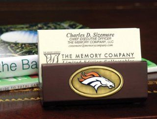 NFL Denver Broncos Football Business Card Holder   Sports Related Merchandise
