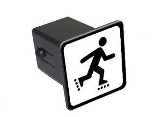 "Inline Skate Skating Rollerblade Sign Symbol   2"" Tow Trailer Hitch Cover Plug Insert Automotive"