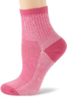 Timberland Women's Thermo Cool Quarter 2 Pair Socks, Pink, One Size Clothing