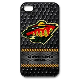 Black NHL Minnesota Wild Team Logo Iphone 4 4S Hard Cover Case at diystore Cell Phones & Accessories