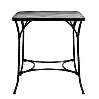 square metal side table by out there interiors
