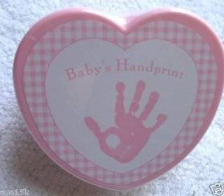 BABY'S FIRST HANDPRINT KIT BY STEPPING STONES PINK FOR GIRL  Baby Hand And Footprint Makers  Baby
