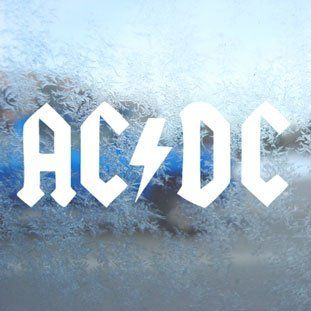 AC DC White Decal Car Window Laptop Vinyl White Sticker   Themed Classroom Displays And Decoration