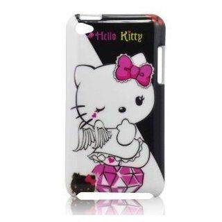 I Need(TM) Popular Angel Hello Kitty & Diamond Pattern Snap on Hard Back Cover Case Compatible for Apple Ipod Touch 4/4g/4th Generation Cell Phones & Accessories