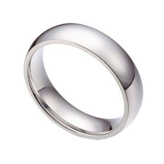 6mm Stainless Steel Comfort Fit Plain Wedding Band Rings Size 5 13 Half Size Sr006 Jewelry