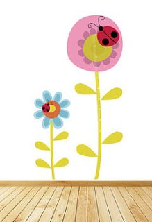 childrens flower height chart wall stickers by parkins interiors