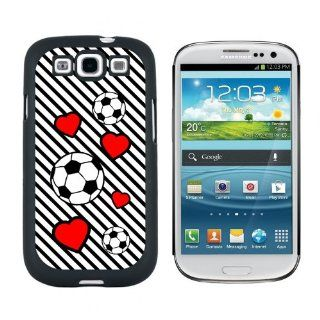 Soccer Love   Snap On Hard Protective Case for Samsung Galaxy S3   Black Cell Phones & Accessories