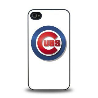 MLB National League Chicago Cubs team logo #3 matt feel hard plastic iPhone 4 4S case protective skin cover Cell Phones & Accessories