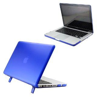 "Hard Shell Matte Transparent Hard Case Cover with Stand for 15"" Model A1286 Aluminum Unibody MacBook Pro (15.4 inch diagonal regular display)   Dark Blue Computers & Accessories"