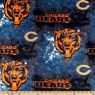 60'' Wide NFL Fleece Chicago Bears Blue/Orange Fabric By The Yard Arts, Crafts & Sewing