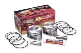 1981 Harley Davidson FXE Super Glide Forged Piston Kit (80ci., Domed)   .005in. Oversize to 3.503in., 9.51 Compression, Manufacturer KB Performance, SHOVEL PISTONS.005 KB 9.5 FORG Automotive