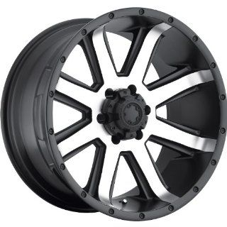 Ultra Crusher 18 Machined Black Wheel / Rim 6x5.5 with a  25mm Offset and a 106 Hub Bore. Partnumber 195 8183U Automotive