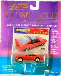1999   Playing Mantis / Johnny Lightning   Classic Gold Collection   1978   Ford King Cobra   Red / T Tops   164 Scale Die Cast   Photo Card   Cragar Rims   MOC   Out of Production   Limited Edition   Collectible Toys & Games