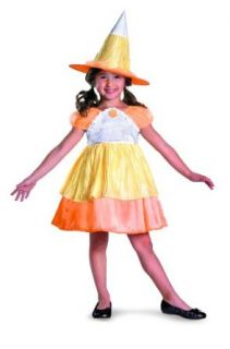 Sugar Shock Candy Corn Witch Classic Costume, Yellow/Orange/White, Child Clothing