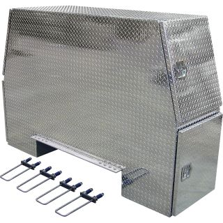 Buyers Products Aluminum Heavy-Duty Backpack Truck Box — Diamond Plate, 92in.L x 58in.W x 24in.H, Model# BP925824  Rack Boxes