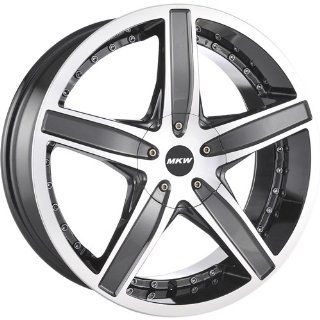 MKW M107 18 Gunmetal Wheel / Rim 4x100 & 4x4.5 with a 40mm Offset and a 73.00 Hub Bore. Partnumber M107 1875000840G Automotive