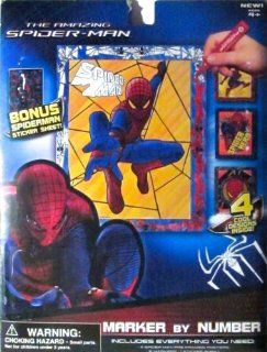 The Amazing Spider man Spiderman Marker By Number Toys & Games